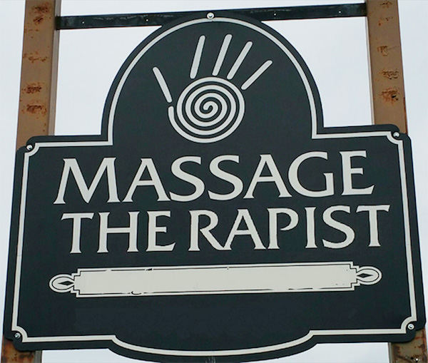 Funny letter-spacing / kerning fails - Massage Therapist