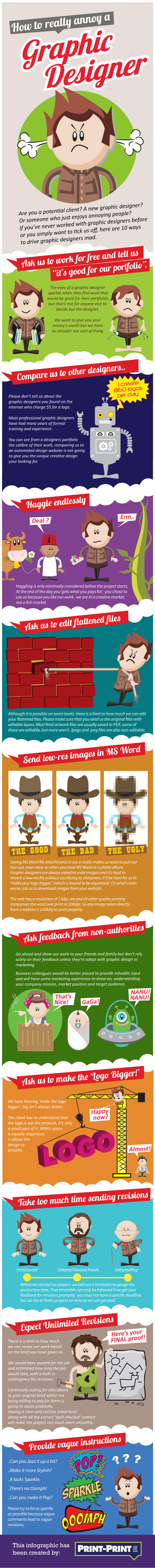 How to really annoy a graphic designer (Infographic)