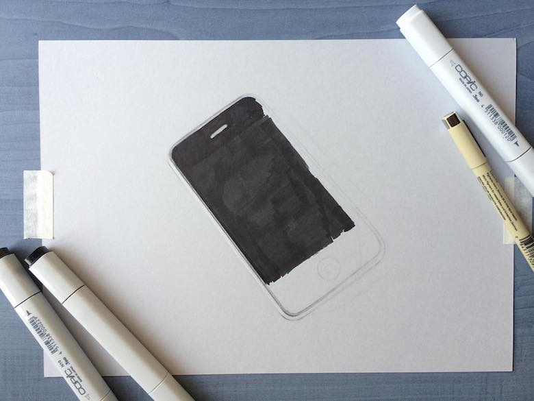 Hyperrealistic 3d drawings by Sushant Rane: Phone - 1