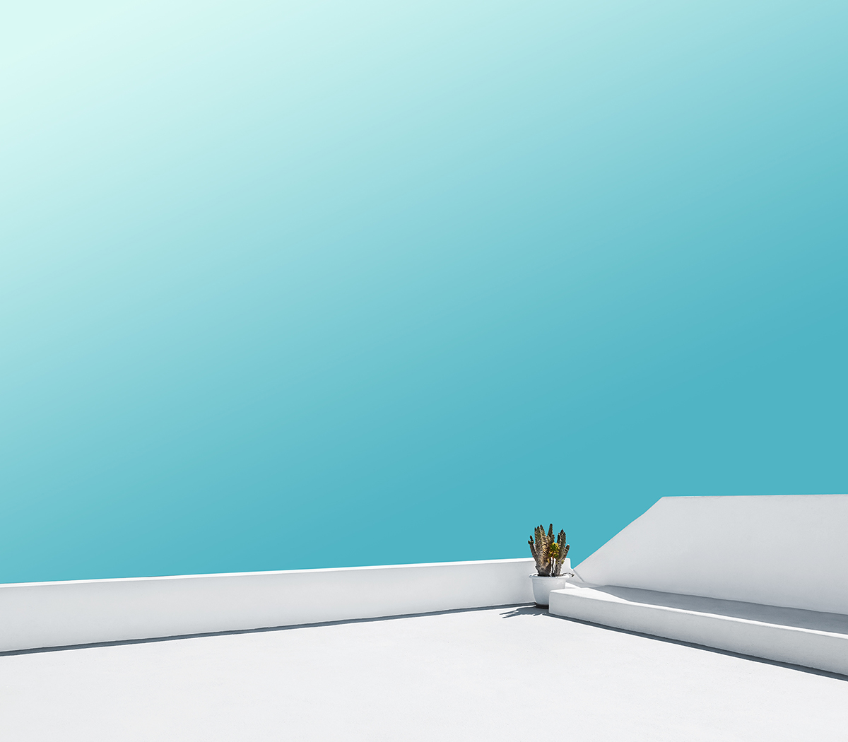 Art director creates calm minimalist images of for A minimalist
