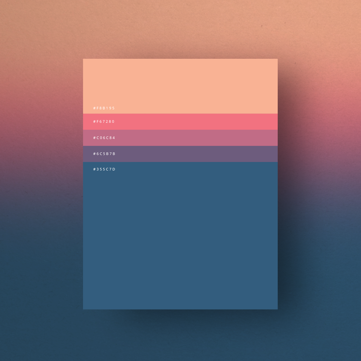 Minimal web color palettes combination with hex code 1