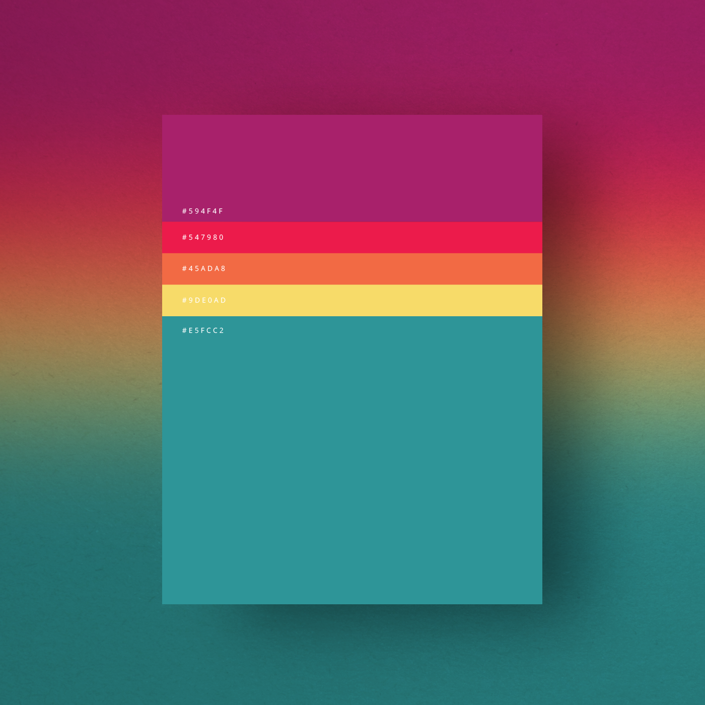 8 beautiful color palettes for your next design project Minimalist typography