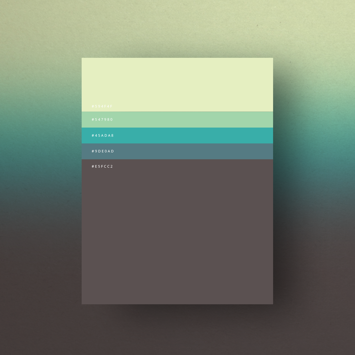 Green Blue Grey Color Shades Combinations Palettes Schemes