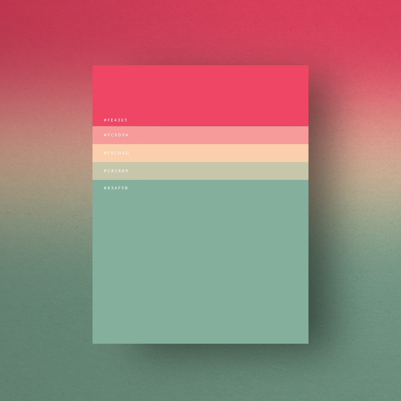 Pink Green Color Shades Combinations Palettes Schemes
