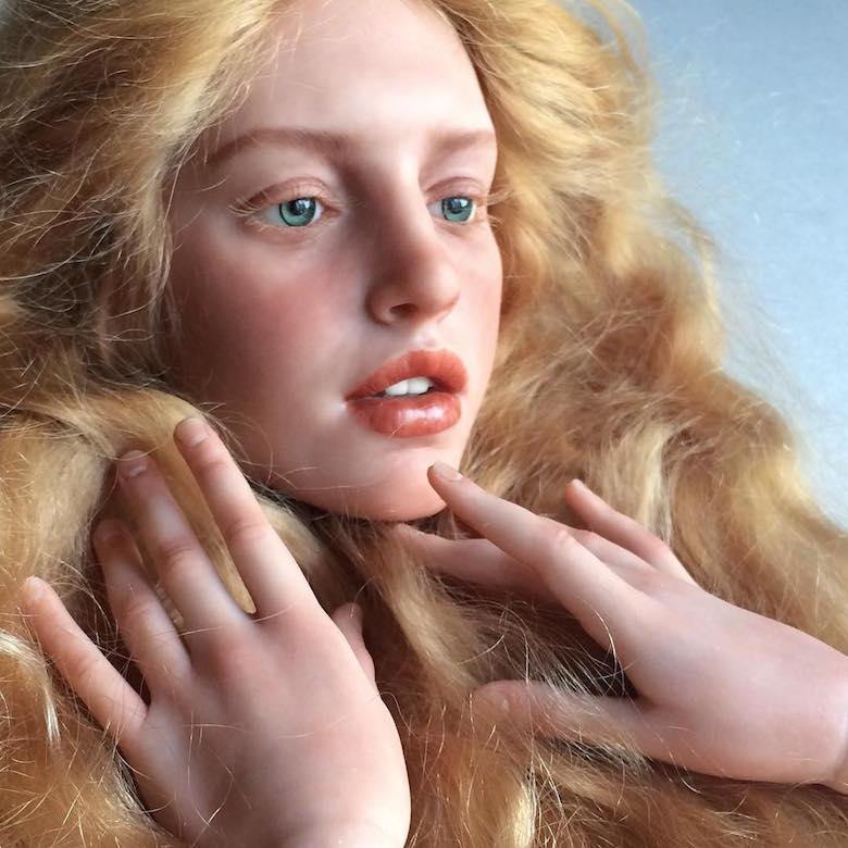 Realistic art doll faces by Michael Zajkov - 12