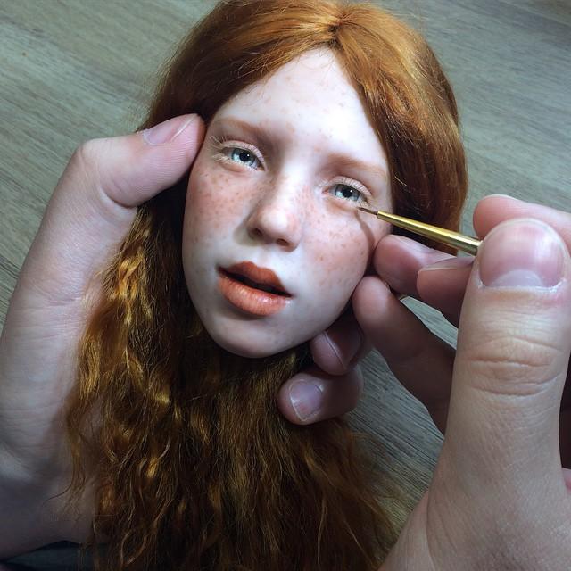 Realistic art doll faces by Michael Zajkov - 13