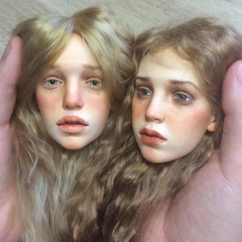 Realistic art doll faces by Michael Zajkov - 2