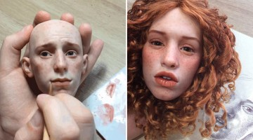 Russian Artist Creates Insanely Realistic Doll Faces That'll Make You Go Wow