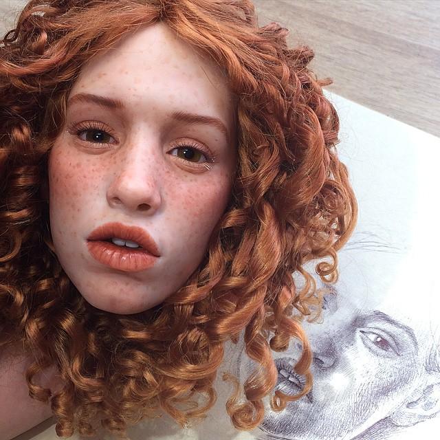 Realistic art doll faces by Michael Zajkov - 4