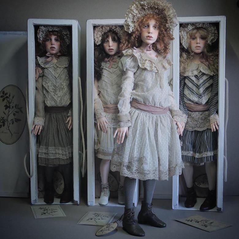 Realistic art doll faces by Michael Zajkov - 9