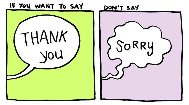 Say thank you, not sorry - comic by Yao Xiao (1)