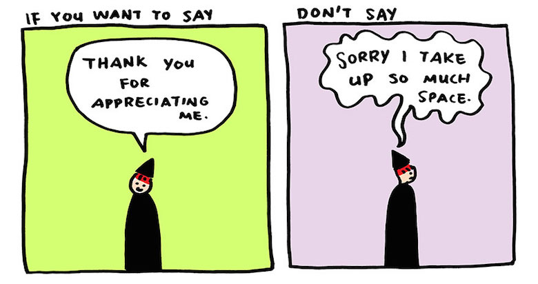 Say thank you, not sorry - comic by Yao Xiao (6)