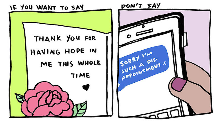 Say thank you, not sorry - comic by Yao Xiao (7)