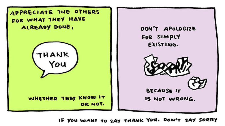 Say thank you, not sorry - comic by Yao Xiao (8)