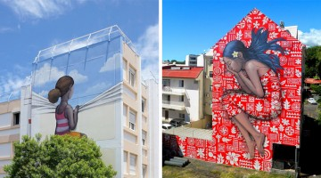 Street Artist Transforms Boring Buildings Around The World Into Beautiful Works Of Art