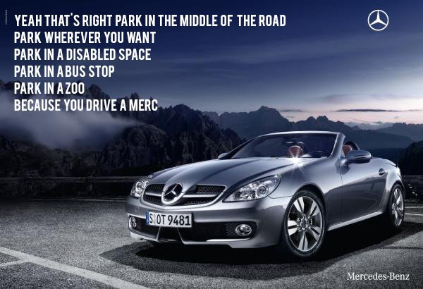 Two comedy writers are creating brutally honest parodies for Mercedes benz slogan