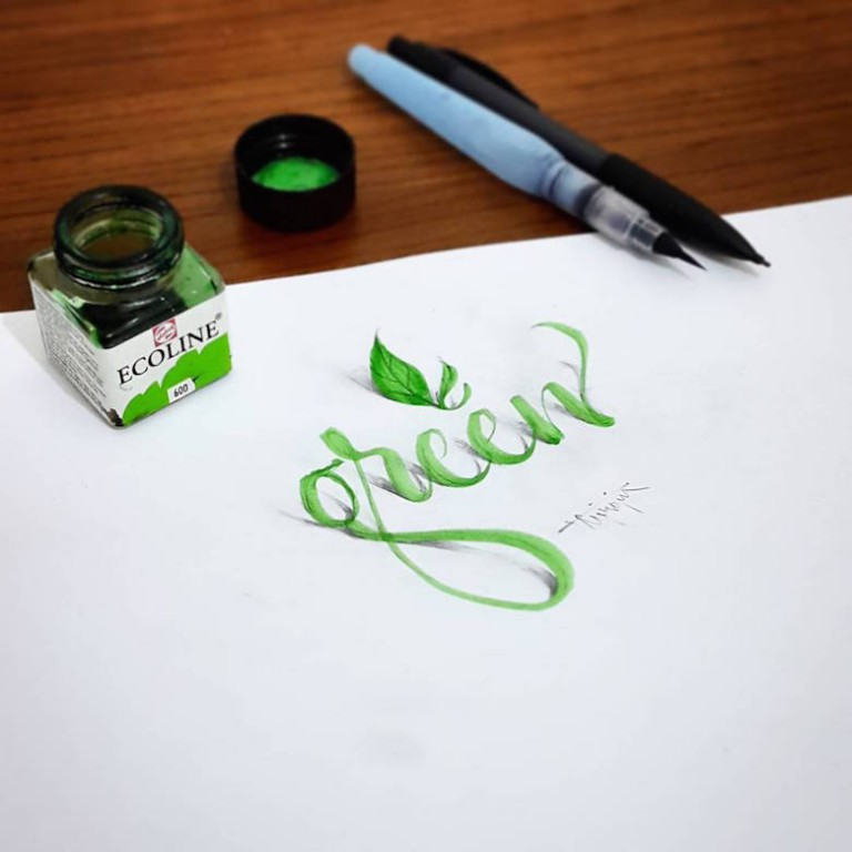 3d calligraphy and lettering by Tolga Girgin - 1