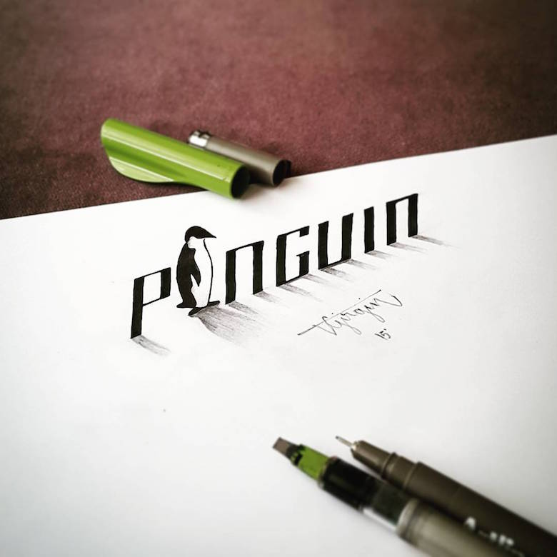 3d calligraphy and lettering by Tolga Girgin - 11