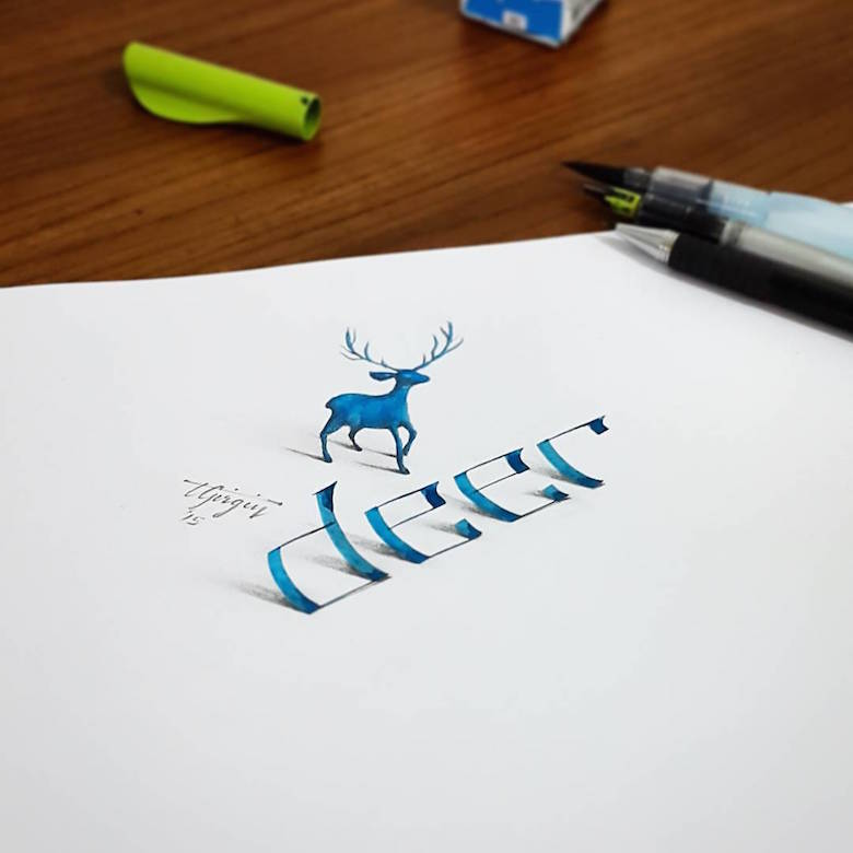 3d calligraphy and lettering by Tolga Girgin - 2