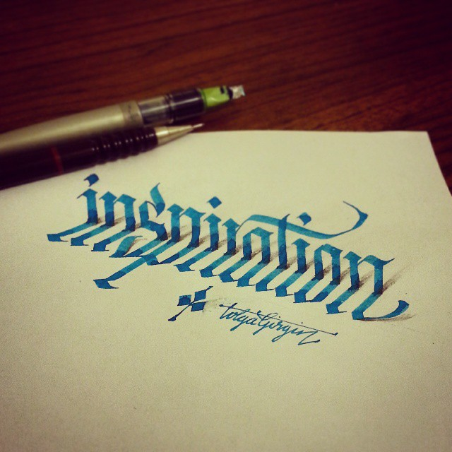 3d calligraphy and lettering by Tolga Girgin - 23