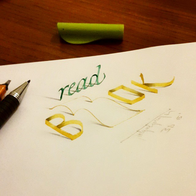 3d calligraphy and lettering by Tolga Girgin - 25