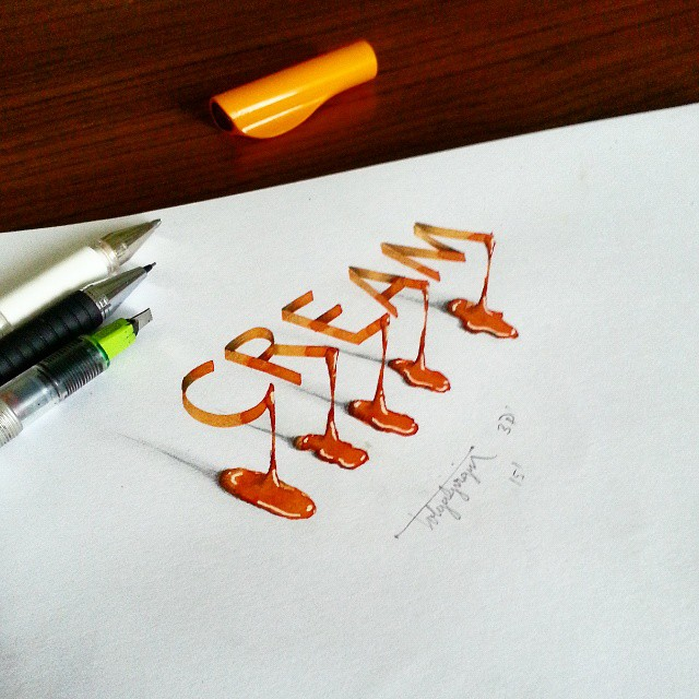 3d calligraphy and lettering by Tolga Girgin - 26
