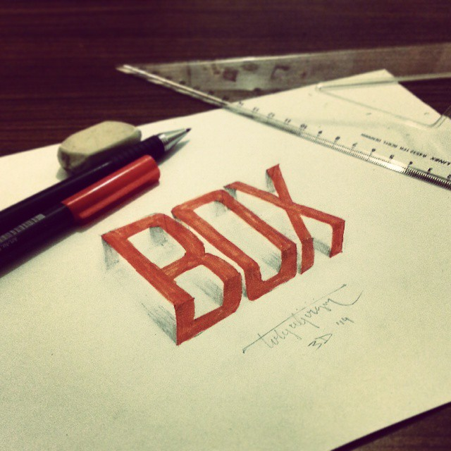 3d calligraphy and lettering by Tolga Girgin - 27