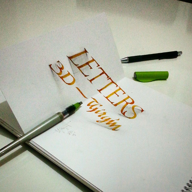 3d calligraphy and lettering by Tolga Girgin - 28