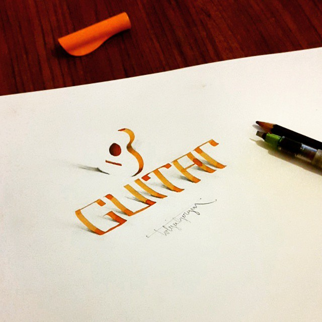 3d calligraphy and lettering by Tolga Girgin - 29