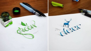 Beautiful 3D Calligraphic Drawings That Look Like They're Popping Out Of The Page