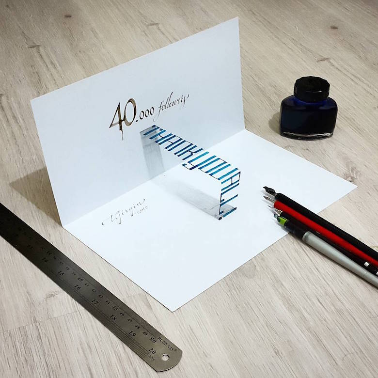 3d calligraphy and lettering by Tolga Girgin - 6