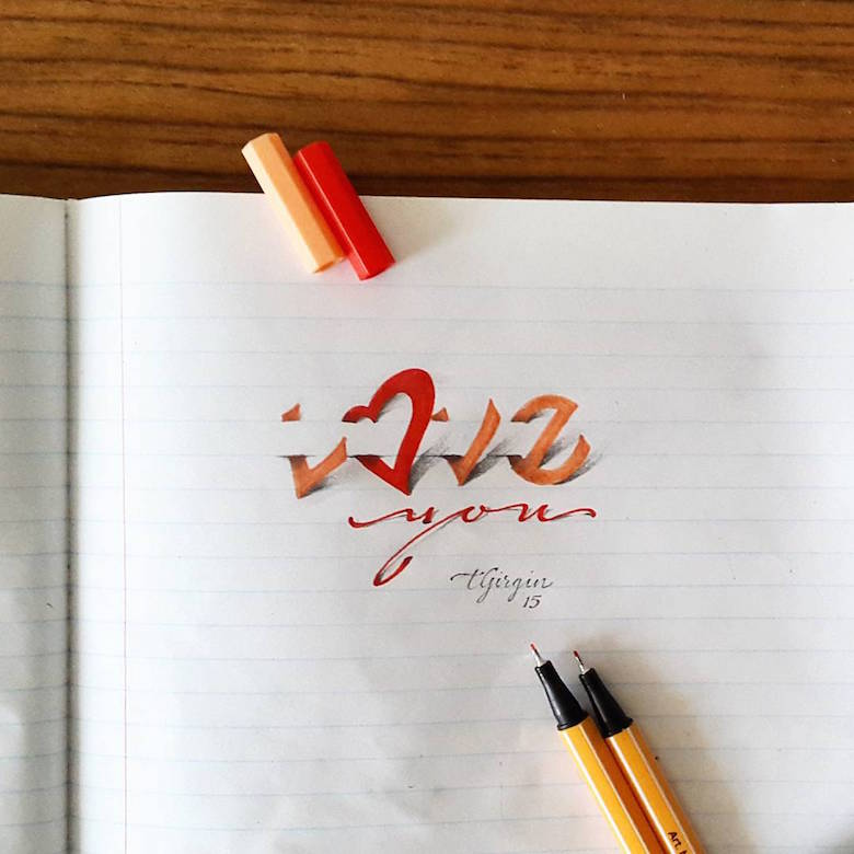 3d calligraphy and lettering by Tolga Girgin - 8