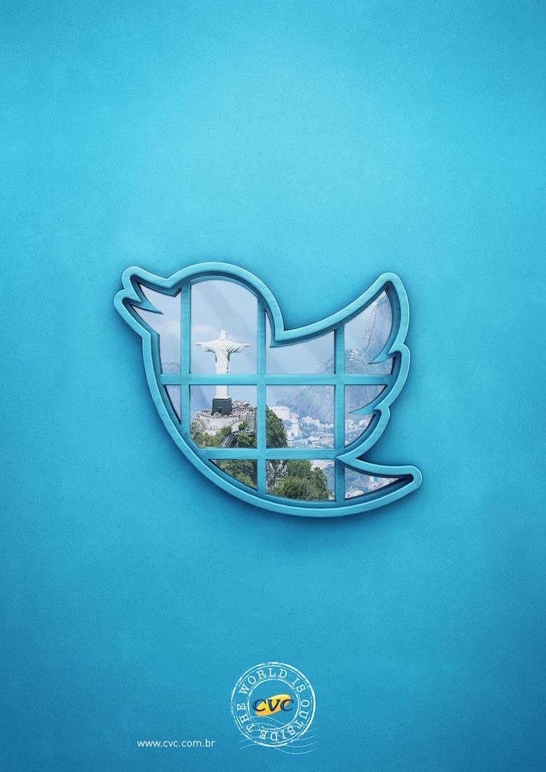 CVC Travel Agency: The world is outside (Twitter)