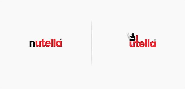 Famous logos affected by their products - Nutella