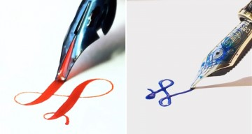 Watch This Artist Create Beautiful Calligraphy Using Different Pens And Techniques