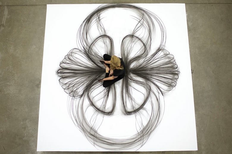Dance movement art; Charcoal drawings by Heather Hansen - 13