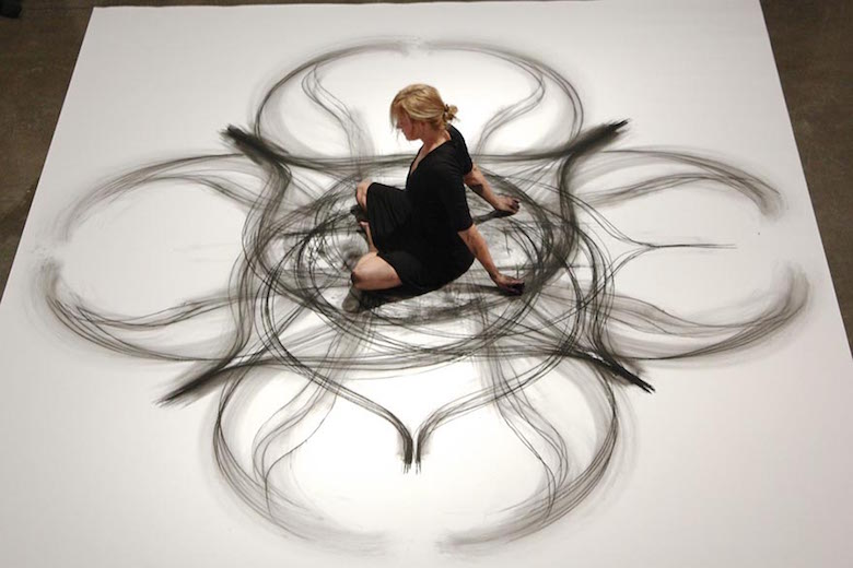 Dance movement art; Charcoal drawings by Heather Hansen - 17