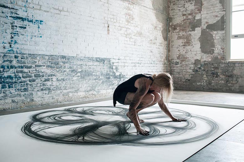 Dance movement art; Charcoal drawings by Heather Hansen - 19