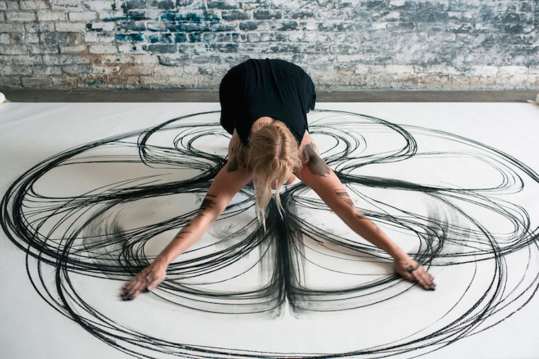Dance movement art; Charcoal drawings by Heather Hansen - 20