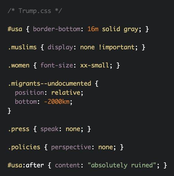 Donald Trump CSS Puns 1 - 7
