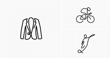 Beautiful Icons Of Everyday Objects Drawn Using A Single Line