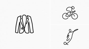 Cool, Quirky Icons Of Everyday Objects Drawn Using A Single Line