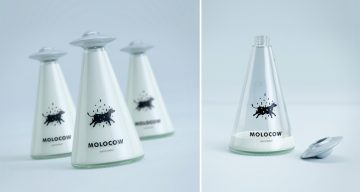 How Cool Is This Milk Packaging That Looks Like A UFO Abducting A Cow?
