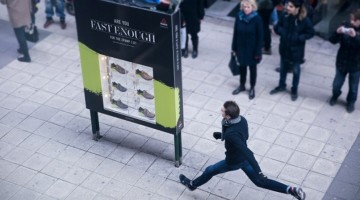 Reebok Billboard Gives You A Free Pair Of Sneakers If You Can Run Past it Fast Enough
