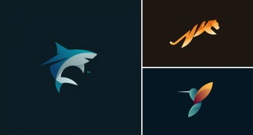 Beautiful, Vibrant Animal Logos Based On The Golden Ratio