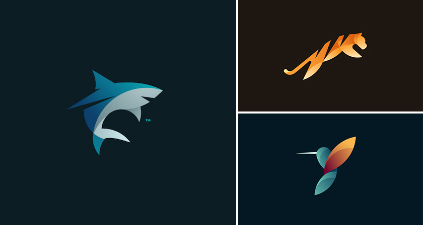 Beautiful Vibrant Animal Logos Based On The Golden Ratio