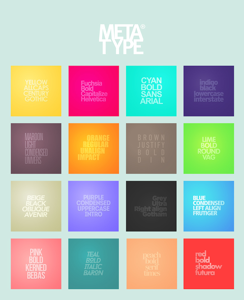 Metatype: Color, font, typography posters - 18