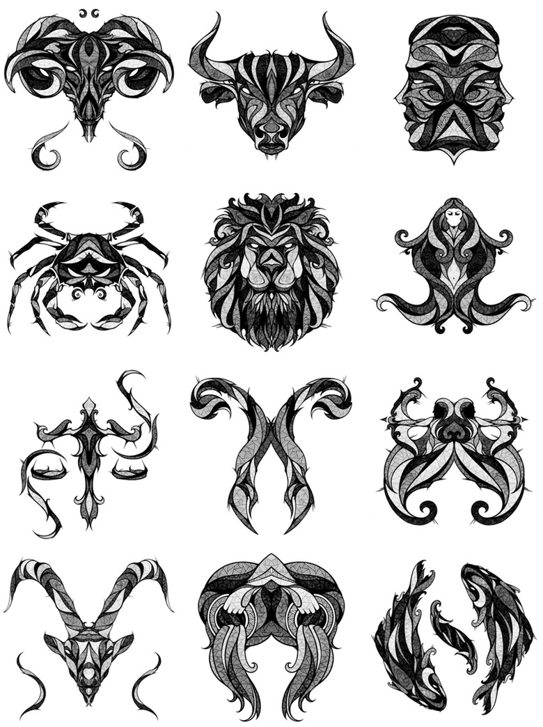 incredible illustrations of zodiac signs by andreas preis. Black Bedroom Furniture Sets. Home Design Ideas