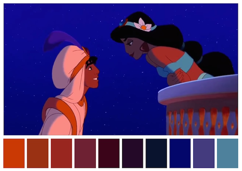Cinema Palettes: Color palettes from famous movies - Aladdin
