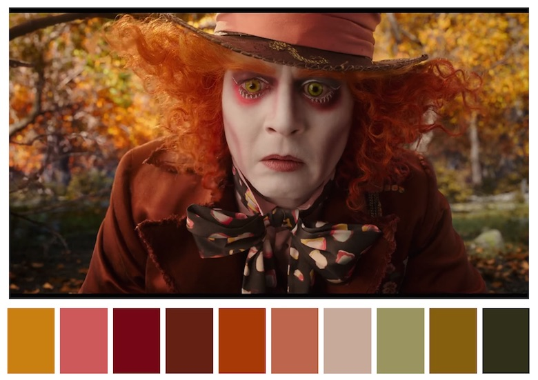 Cinema Palettes: Color palettes from famous movies - Alice Through the Looking Glass